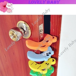 New 4Pcs Animal Cartoon Jammers Child kids Baby Stop Door stopper holder lock Safety Guard 716(China (Mainland))