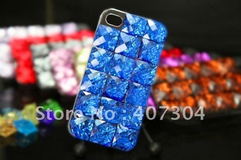 Luxury Falling Stone meteorolite Bling Diamond Case Cover for iphone 4 4S with retail package 20pcs/lot Free shipping