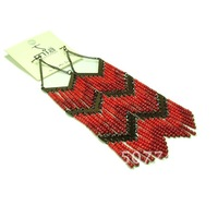 2014 new fashion wholesale women jewelry, exaggerated red seed beads big drop earring, female Bohemian earrings,free shipping