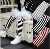 2012 New Autumn Girls leggings children fashion stripe tight pants kids trousers cotton pants baby garment,5pcs/lot