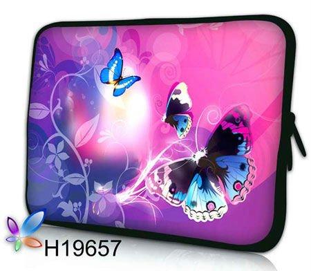 """frete grátis, quente 17"""" 17.3"""" borboleta colorida laptop forma bolsa saco de manga netbook capa(China (Mainland))"""