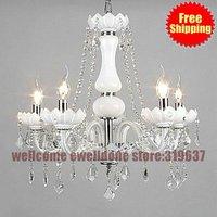 Luxury Large Chandelier Lighting crystal Luxury5 light white fashion chandelier Crystal Top Grade  Chandelier Lighting