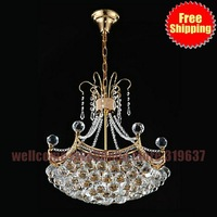 6 light Modern Crystal Chandelier Luxury quality gold light crystal lighting lamps Luxury Crystal Ball chandelier High Quality