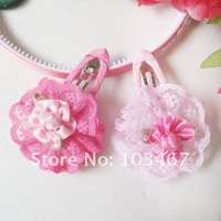 Free shipping! girl's flower hair clip 40pcs/lot good quality