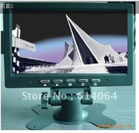 DHL free shipping 7 inch car  LCD  monitor with new led 16:9 wide panel