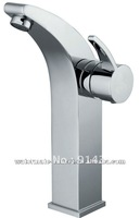 single handle bathroom vessel deck faucet