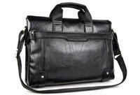 [black&brown]+QUALITY Guarantee soft Leather Popular Men's Briefcase Laptop Handbag Messenger Bag #MB13