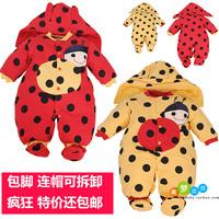 baby thickening bodysuit cotton-padded jacket newborn autumn and winter cotton romper baby newborn free shipping