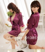 Free shipping 2013 Hot Selling Women Pajamas,4 Colors Silk Sleepwear,Two Piece Set Summer Sexy Women Nightgowns,Good Quality