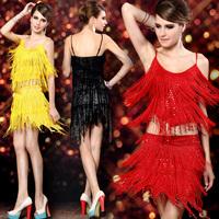 Dance female leotard costumes twinset split Latin dance skirt costume