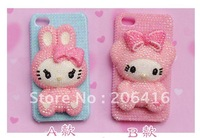 3D Bling Bling Cute Bunny Case Cover Kit for Iphone 4s