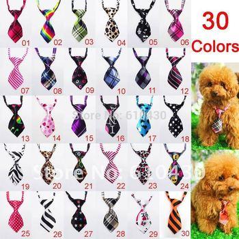 20pcs Adjustable Pet Dog Cat Handsome Bow Tie Necktie Neck Collar Cute gift 30colours