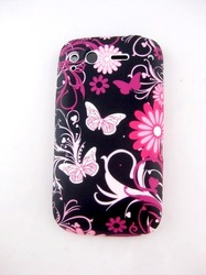 FLOWER BUTTERFLY TPU GEL SILICONE SOFT COATING CASE COVER SKIN COATING FOR HTC DESIRE S G12(China (Mainland))