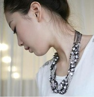 [Mix 15USD] 1212 ! beautiful power rhinestone crystal metal chain mixed necklace