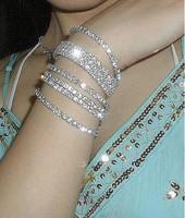 [Mix 15USD] Star sparkling rhinestone elastic single row bracelet only one 1pc