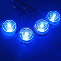 Free shipping  motorcycle and CAR chassis super bright 4 pcs blue LED lamp wholesale and retail