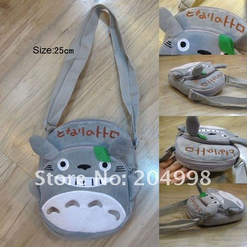 "Free shipping Cute My Neighbor TOTORO 10"" plush Toy shoulder bag Children bag"