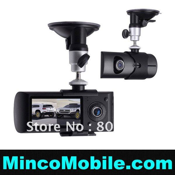 R300 Car DVR, Dual lens Car DVR Camera X3000 with 2.7 LCD, 1080P, GPS logger& 3D G-Sensor(China (Mainland))