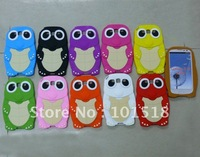 100pcs/lot &Free shipping  New Turtle cartoon Silicone Soft Case Cover For Samsung Galaxy S3 III i9300