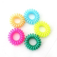 100 pcs/lot Mixed Color Hair Elastic Band Rope Rubber Telephone Line Elastic Hair Band Hair Accessories FIt Gilr&Women OY013  L