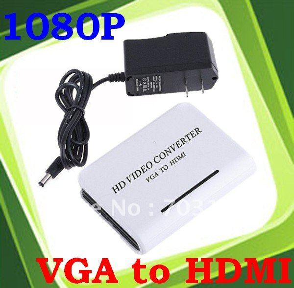 4pcs/lot Laptop Notebook PC DVD VGA 3.5mm Audio to HDTV HDMI 1080p AV Converter Adapter Freeshipping&Dropshipping(China (Mainland))