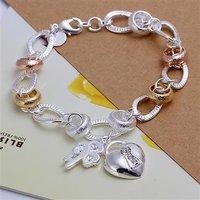 LKNSPCH233 // new promotion 925 silver plated Bracelet, 925 Silver jewelry, Silver Bracelet Wholesale Free shipping