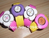 Cute Butterfly shape and apple shape slap rubber watches for children