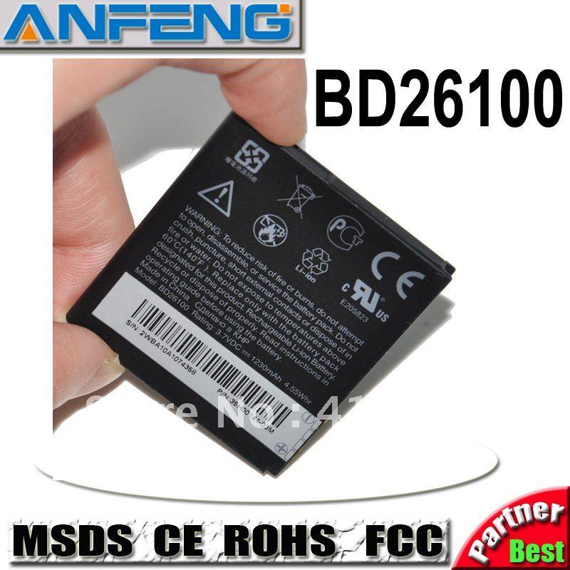Real 1230mah BD26100 BA S470 battery for HTC INSPIRE 4G Desire HD G10 T8788 A9191 A9192 free shipping 2pcs/lot AAA Grade(China (Mainland))