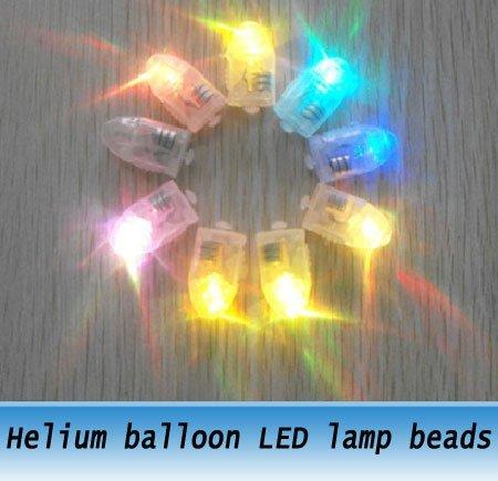 Multi color Helium balloon LED lamp beads for flashing balloon 50PCS(China (Mainland))
