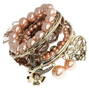 Min.order$10,mixed order Ob0116 heart flower flies so bracelet 10 multi-layer bracelet free shipping