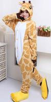 Free Shipping Hot Sale 2012 New Fashion S M L XL Adult giraffe Sleepwear ...