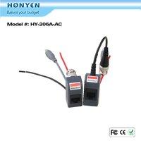 Power Video Data surveillance CCTV video balun HY-206A-AC