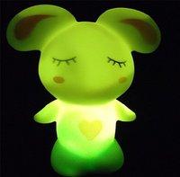 Free Shipping!Led Rabbit Light Led Gift/Changing LED Lamp Night Light /Christmas gift