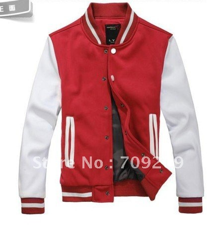 Red Hoodies Sweatshirts Korean baseball service men and women couple cardigan baseball sweater jacket Free shipping(China (Mainland))