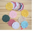 Free shipping Round Hand Crocheted  Doilies lot of 20 PCS - diameter : 12 cm / 4.73 inch -home decor