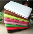 Popular women's wallet candy color women's boxes wallet card holder