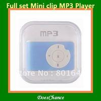 mini Clip Mp3 player full set 1pcs sell