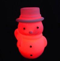 50pcs/lot free shipping LED night light led night lamp colorful led snowman light christmas lights