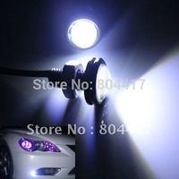 Free Shipping New Sale 3W White LED Ultra-Thin Larger Lens Daytime Dayline Eagle Eye Reverse Light  2pcs/lot, Wholesale