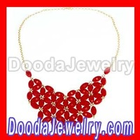 Handmade Coral Red Fashion Bib Necklace Jewelry for women wholesale&retail JW0002-6, Free Shipping