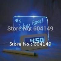 Fluorescence Message Board Clock, Colorfull Calendar Clock, Creative Romantic Digital Desk Clock Free Shipping