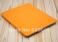 Free shipping 8 color hot selling smart cover case cover for ipad2 ipad 3 smart cover leaher case