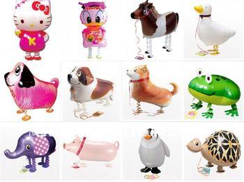 Mixed designs Free shipping 90pcs/lot my own pet balloons, walking balloon helium balloons