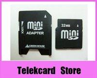 small capacity 32MB Mini SD MINI SD 32M mini sd Memory Card with Adapter, free card case