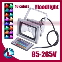 10w 20w 30w 50w 16 Color RGB Flash Landscape Wash Lighting High Power LED Flood light Outdoor Floodlight 85V-265V waterproof