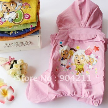 New! Big Pet dog cat Pleasant Goat raincoat, Teddy/Golden Retriever/Poodle rain cape/coat, free shipping+gifts!