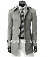 Hot sale new hot slim trench coat for men best selling long coat for men M/L/XL/XXL