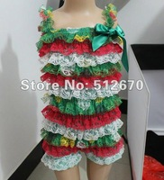 hot sale high quality chirstmas cute design baby multicolor posh petti lace rompers for infant/baby