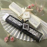 FREE SHIPPING+Wedding Favors Luxurious Silk Fan in Elegant Gift Box +100pcs/lot+Lowest price in Aliexpress(RWF-0021U)
