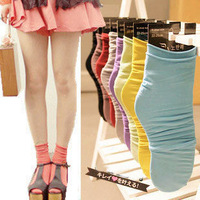 W97 socks vivi stockings vintage female sock knee-high socks pile of pile of socks